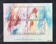 Noruega Hojita bloque del año 1989 (BZ-377)