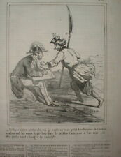 CHAR 089 CARICATURE 1863 INSURECTION POLOGNE REDACTION D'UN PROTOCOLE