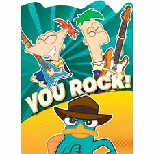 PHINEAS AND FERB Agent P THANK YOU NOTES (8) ~ Birthday Party Supplies Cards