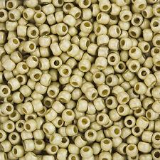 Toho ROUND Taglia 6/0 Seme Perline permafinish opaco in alluminio zincato (l90/3)