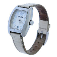 Folli Follie Watches Silver White Woman Authentic Used Y2168