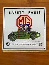 """MG MAGNETTE 'K' SERIES"""" Enamel Sign (44 x 44cm / 17,5 x 17,5"""")"""