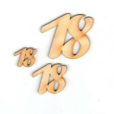 Geburtstag Zahl aus Holz 33 mm Tischdeko 10 18 20 25 30 35 40 45 50 55 60 65 70