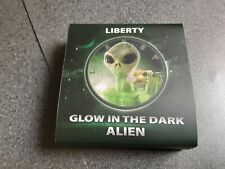 More details for 2017 $1 usa liberty glow in the dark alien