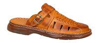 Men Genuine Buffalo Leather Orthopedic Sandals Slip On Shoes UK Size 6 7 8 9 10
