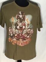 Three Little Pigs & The Big Bad Wolf Tiki Kingdom Disney Studio Collection Shirt