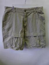 mens UNION BAY khaki CARGO shorts sz 38 fits like a 36 board skate surf Clean