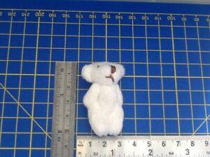 Cream Fluffy Teddy Bear Dolls House Miniature Nursery Toy Shop