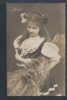 40611) Echt Foto AK Kinder Mädchen Mode Fashion 1908 Osterath August