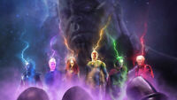 Movie Thanos vs avengers Wallpaper Poster 24 x 14 inches