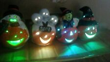 Halloween Pumpkins. Set Of 4 Light Up, Colour Changing. 8.5cm. party table decor