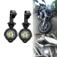 Pair Universal BMW Motorcycle LED Auxiliary Fog Light Assemblie Driving Lamp 40W