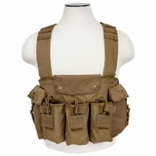 NcSTAR Tan Tactical 6 Magazine Pouch 7.62x39mm Hunting Chest Rig Vest Harness