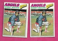 RARE 2 X 1977 OPC # 173 ANGELS BOBBY BONDS  CARD (INV# C1334)