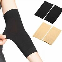 1 Pair Black Skin Tattoo Cover Up Compression Sleeve Forearm Band UV Protection