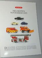 Nouveautés Novembre 1995 Wiking Nouvelle Fiche Produit Å