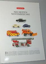 novità Novembre 1995 WIKING Nuova scheda prodotto å