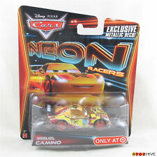 Disney Pixar Cars 2014 Neon Racers - Miguel Camino - exclusive metallic deco