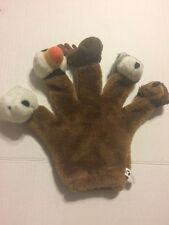 Arctic Circle Hand Glove Finger Puppet Plush Polar Brown Bear Moose Puffin Husky