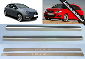 Seat Ibiza 2 Door (2008 - Early 2017) Stainless Sill Protectors / Kick Plates