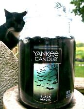 "SET OF 2 Yankee Candle Halloween ""BLACK MAGIC"" ~ Large 22 oz.~ WHITE LABEL ~ NEW"