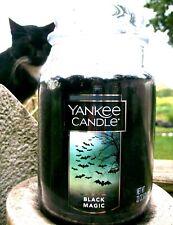 "Yankee Candle Halloween ""BLACK MAGIC"" ~ Large 22 oz.~ WHITE LABEL ~ RARE ~ NEW"