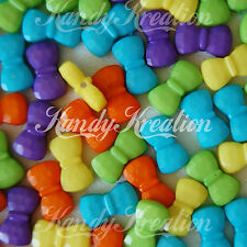 50 Bow Shaped Pony Beads for hello kitty Kawaii Bubblegum Necklaces kandi Bows