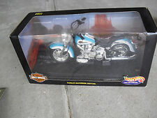 Hot Wheels 1:10 Scale Diecast Turquoise Harley Davidson Softail Motorcycle NIB