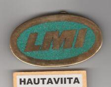 Strip Mining Dragline Repair LMI LaysManufacturingInc Brass Turquoise BeltBuckle