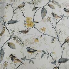 Dove /& Flora Grey//white  140cm wideCotton Curtain//Craft Fabric