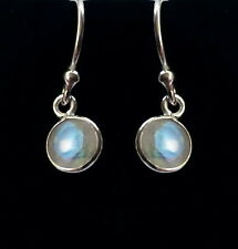 315g Rainbow Moonstone 6mm faceted solid 925 sterling silver earrings rrp$34.95