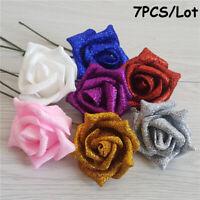 Hochzeit PE Schaum Rose Vollständiger Glitter Künstliche Blume Home Dekor