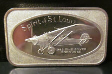 SPIRIT OF ST LOUIS ONE TROY OUNCE .999 SILVER BAR madison mint Vintage