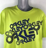 Oakley Spell Out Mens XXL Lime Green T-Shirt