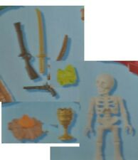 Playmobil 5804 Skeleton 3 Swords Gold Bars Cup Replacement New