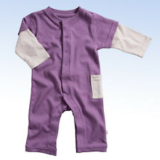 babysoy Basic Layered One Piece w Soft Soy Fiber - Eggplant - 12-18 months
