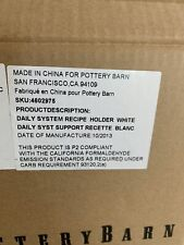 Pottery Barn Daily System Recipe Tablet Holder White With 12� Display Rod New