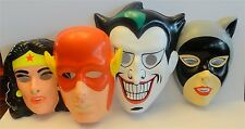 Set of 4 Halloween masks - Joker, Catwoman, Flash, Wonder Woman