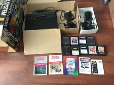 atari 2600 woody 6 switcher + box + 9 games + 4 controllers tested