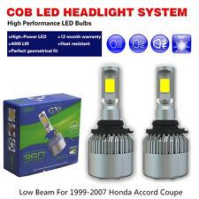 LED headlights Bulb COB White Car Bulb Low Beam Fit 1999-2007 Honda Accord Coupe