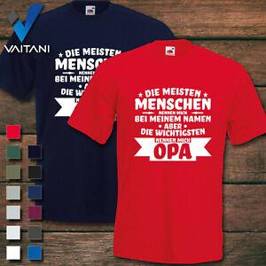 Opa Lieblingsmensch Die wichtigsten Personen nennen mich Opa T-Shirt Spruch cool