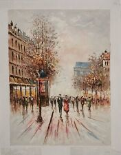 Urban Scenery of Paris Landscape Original Hand Painted Oil Painting on Canvas
