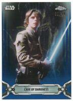 2019 Star Wars Chrome Legacy Blue Refractors 115 Luke Skywalker 69/99