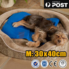 Pet Dog Cat Bed Non-Toxic Cooling Cool Water Cooling Gel Mat Summer Pad 30X40cm