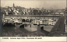 Firenze Florenz Italien ~1920/30 Galleria degli Uffizi Panorama dei ponti Brücke