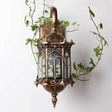 Vintage Outdoor Lantern Light Garden Wall Exterior Lamp Retro Hanging Lighting