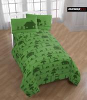 MINECRAFT 3 Piece Microfiber Twin Bedding Sheet Set Pillowcase Kids Teens Child