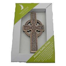 IRISH Bronze Ahenny Celtic Cross Plaque Made in Ireland by Wild Goose Studio