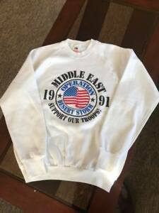 Operation Desert Storm 1991 Sweatshirt.  Large, never worn.  NO RESERVE!!!