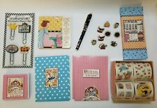 Mary Engelbreit Mixed Lot Stationary Desk Items Paper Clips Stickers Thumbtacks